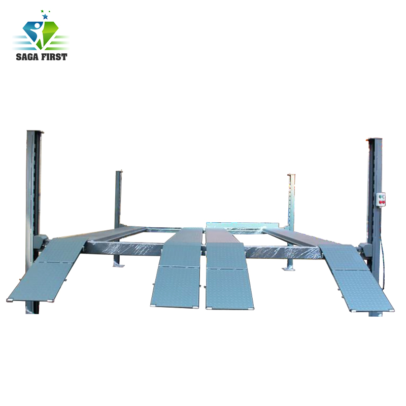CE Approved Hydraulic Car Parking Equipment 4 Post Auto Car Lift