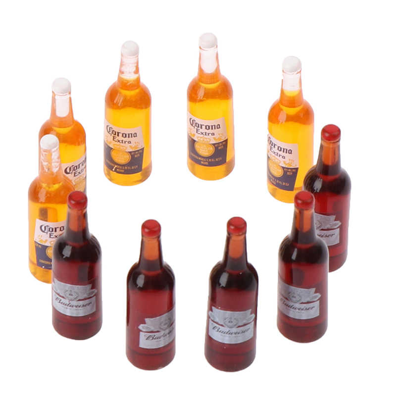 10 X 1//12 Dollhouse Miniature Resin Bottle Simulation wine B TBO