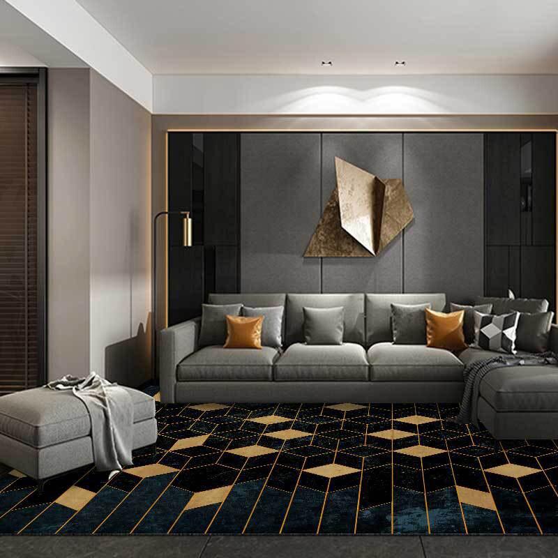 Modern 3d Diamond Black Gold Carpet Soft Crystal Velvet Living Room Bedroom Bedside Kitchen Rugs Non Slip Bathroom Mats Tapetes Mega Offer 675da Cicig