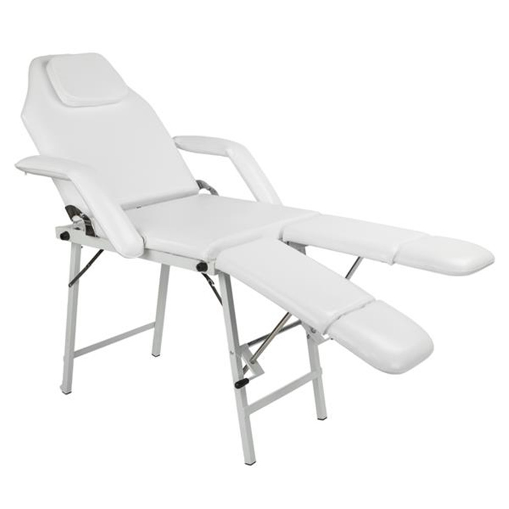 "190cm*58m*69cm 75"" Adjustable Salon SPA Pedicure Massage Tattoo Therapy Bed Split Leg Chair Beauty Equipment White Beauty Bed"