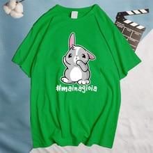 T-shirt in cotone di alta qualità MAI NA GIOIA! MAI UNA GIOIA! Collezione estate t-shirt stampate 2021 estate uomo cotone O collo Tshirt