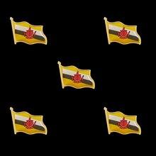 5PCS Brunei Enamel Flag Lapel Pins Badges Of Flag Multiple Design Pin Brooch