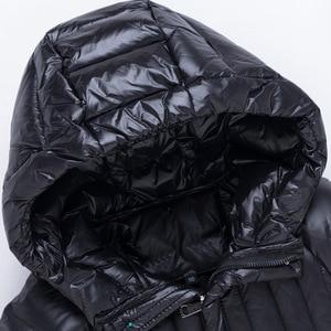 Image 5 - חם אופנה של הילדה למטה מעילים ארוך דגם ילדי אמיתי למטה מעיילי מעיל ילדי נער עבה למטה הלבשה עליונה עבור קר חורף
