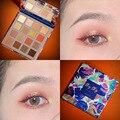 Палитра теней для век 16 цветов, матовые мерцающие тени для век, пудра, косметика, водостойкий макияж для женщин, женский макияж