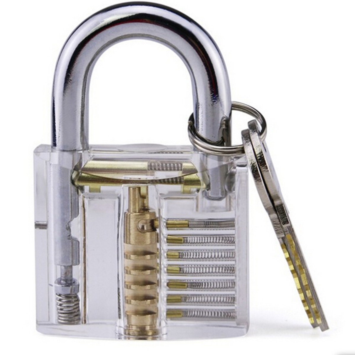 Transparent Visible Pick Cutaway Practice Padlock Lock With Broken Key Removing Hook Kit Extractor Set Locksmith Wrench Tool