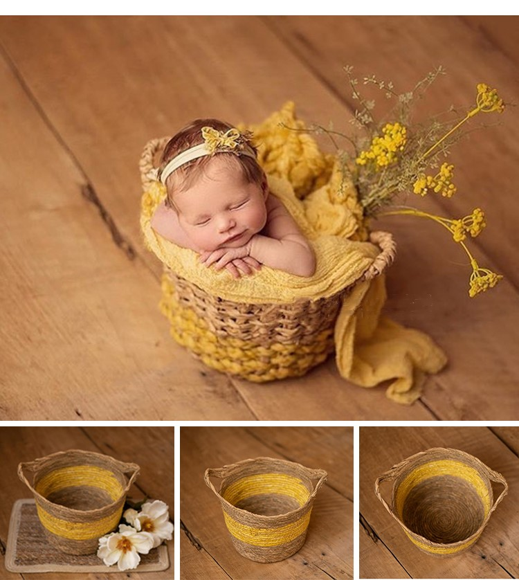 Newborn Photography Props Woven Basket Photo Studio Baby Photography Booth Baby Photography Props Container