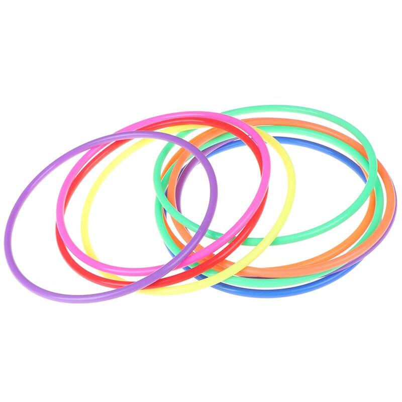 5 pièces lancer anneau jeu éducatif drôle cercle jeu jouet enfants cadeau jeux de plein air en plastique lancer cercle jouet