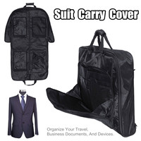 Multifunction Dust proof Waterproof Dress Clothes Cover Case Suit Dress Garment Storage Bag Travel Business Bag Suit Carry Cover