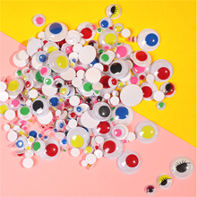 200/300pcs Self Adhesive Eye Stickers for Toys Dolls 4/8/10/15/20mm Mixed Googly Wiggly Eyes DIY Accessory Eyeball for Scrapbook