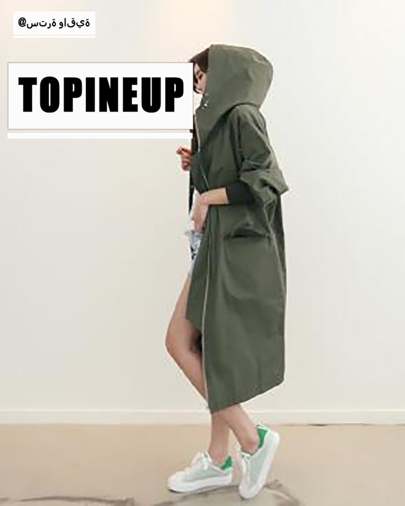 Double Wearing Camouflage Hoodie   Trench   Coat With Pockets Button Lightweight Overcoat zipper Long Sleeve Warm Coats