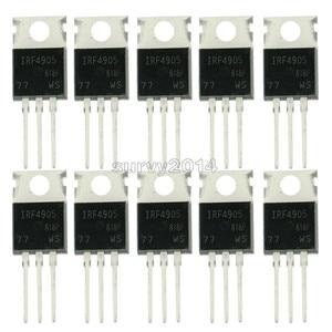 Image 1 - 10 stücke IRF4905PBF TO220 IRF4905 ZU 220 IRF4905P Power MOSFET neue und original