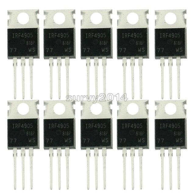 10pcs IRF4905PBF TO220 IRF4905 כדי 220 IRF4905P כוח MOSFET חדש ומקורי