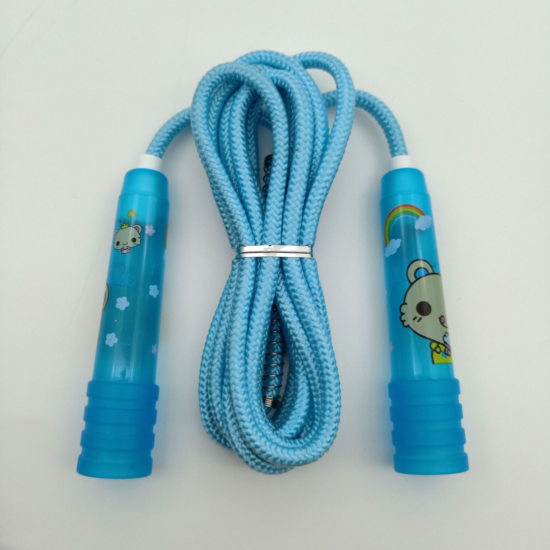 Liang Jian Cartoon Printed Big Horn Plastic Handle PVC Bag Jump Rope Manufacturers Direct Selling Children Entertainment Activit