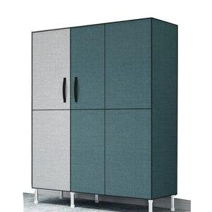M8 простой шкаф стальная трубка уплотненная ткань экономичная сборка Ткань Шкаф для хранения