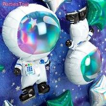 1pc astronauta aniversário balões de hélio golray espaço fontes de festa ufo foguete folha balões espaço exterior tema festa decorações