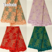 Luxury african flower lace fabric Embroidered 5 yards lace fabric sewing DIY trim applique craft Ribbon guipure dress accessory high quality african flower lace fabric embroidered lace fabric sewing diy craft trim ribbon dress guipure accessory 1 yard
