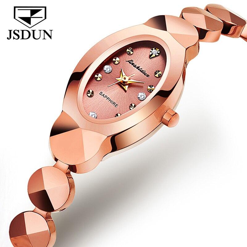 JSDUN fabricant vente directe transfrontalière en acier au tungstène dames montre à Quartz étanche dames montres automatiques luxueux