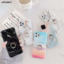 Finger Ring Holder Marble Phone Case For iphone X XR XS 11 Pro Max Case Silicone Soft Shell For iphone 8 7 6 6S Plus Case Cover laser marble finger ring holder phone cases for iphone 11 pro max case cover funda for iphone 7 8 6 6s plus xs max xr case coque
