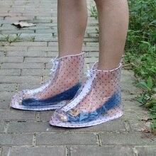 Высококачественные непромокаемые водонепроницаемые ботинки унисекс ботинки с закрытой пяткой туфли для многократного применения непромокаемые ботинки на толстой нескользящей платформе#25