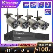 Techage 8CH 1080P sans fil NVR Kit système de vidéosurveillance 2MP WiFi Audio enregistrement caméra IP IR extérieur vidéo sécurité Surveillance NVR ensemble