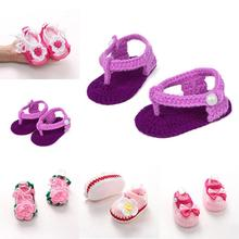 1 Pair Fashion Cute Girls Boys Infant Toddler Knitted Crochet Cotton Toddler shoes Lovely Baby Shoes Gifts