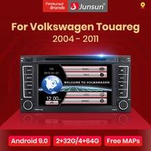 Lecteur dvd multimédia autoradio Junsun 2 din pour VW Volkswagen Touareg 2004 - 2011 Transporter Android 10 GPS 2 go + 32 go en option