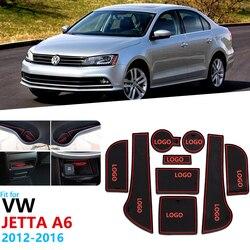 Antypoślizgowe gumowe maty do schowków mata na kubki dla Volkswagen VW Jetta A6 MK6 2011 2012 2013 2014 5C6 GLI 6 mata do schowków na drzwiach akcesoria samochodowe