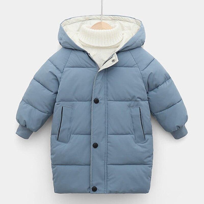 Зимние Детские пальто; Детские куртки для мальчиков; Модные Плотные длинные пальто; Пальто с капюшоном для девочек; Зимний комбинезон; От 3 д...