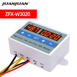 ZFX-W3020 Microcomputer Temperature Controller Switch Dual Temperature Control Timer Switch Module DC 12/24 AC 220 V 50%off