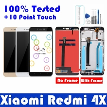 For Xiaomi Redmi 4X LCD Display with Frame 10 Touch Screen Panel Redmi 4X LCD Display digitizer Frame Assembly Repair Parts