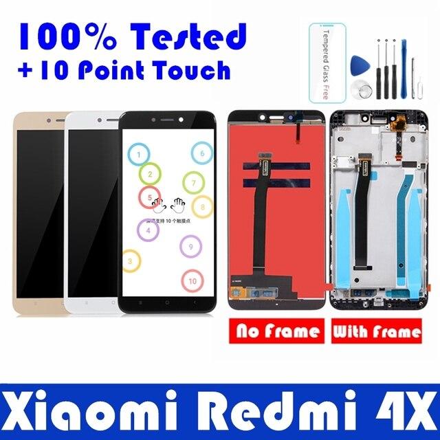 Pantalla LCD con marco para Xiaomi Redmi 4X, Panel de pantalla táctil, digitalizador, piezas de reparación