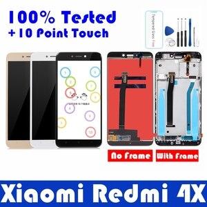 Image 1 - עבור Xiaomi Redmi 4X LCD תצוגה עם מסגרת 10 מגע מסך פנל Redmi 4X LCD תצוגת digitizer מסגרת עצרת תיקון חלקי
