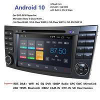 2019 Latest Android 10 IPS Touch Screen Car DVD Player For Mercedes/Benz/E Class/W211/E200/E300 GPS Radio FMAM USB DVR RDS DVBT