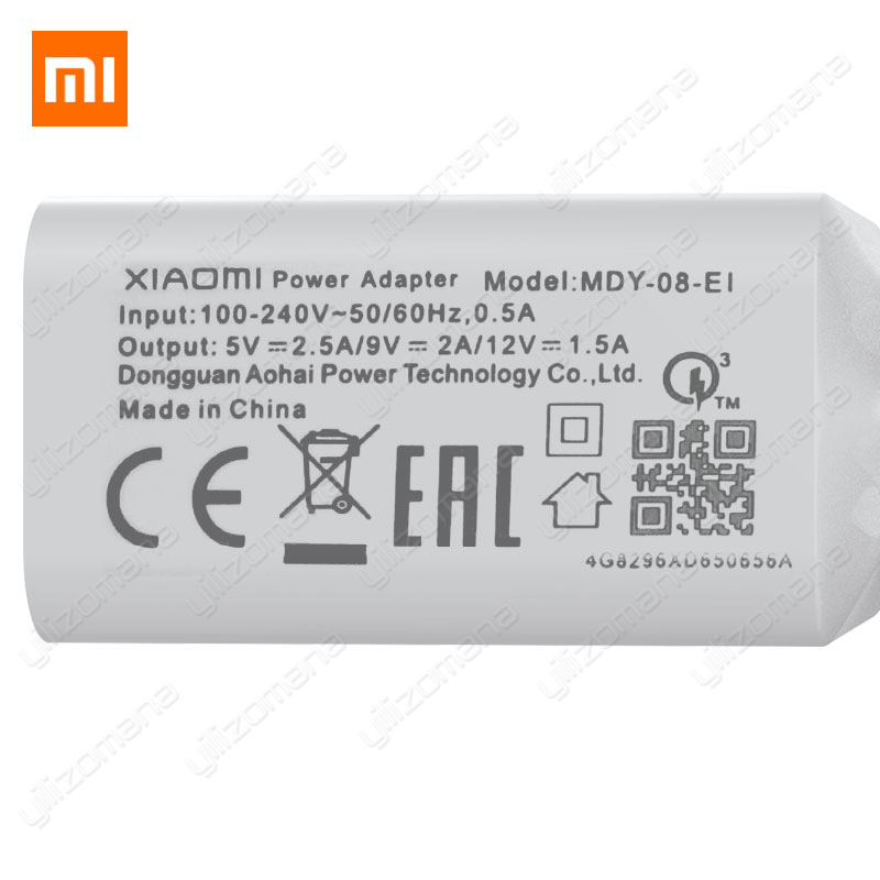 Image 2 - Xiaomi Original Charger 2.5A 9V/2A EU Quick Fast QC 3.0 Type C USB Data Cable Travel Charging Adapter For Mi 5 6 8 Redmi Note 7-in Mobile Phone Chargers from Cellphones & Telecommunications