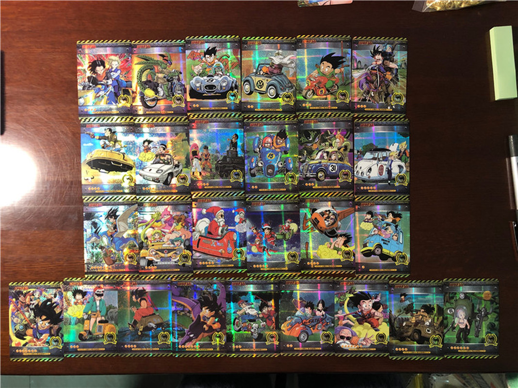 27pcs/set Dragon Ball Z Vehicle Sixth Bomb Heroes Battle Card Ultra Instinct Goku Vegeta Game Collection Cards Free Shipping