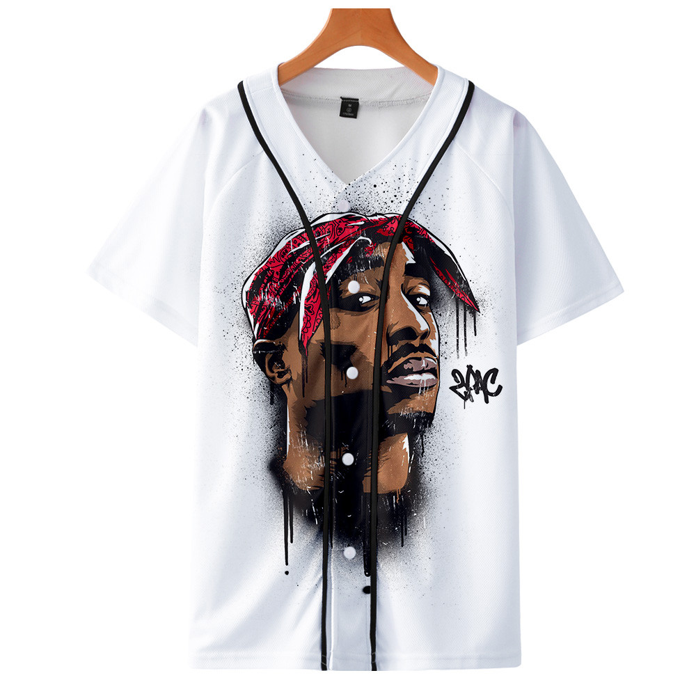 Tupac 2pac Baseball T-shirt Hot Sale Hip Hop Tee Shirt Hipster Casual 3d Tshirt Tops Harajuku Streetwear T Shirt Brand Clothes