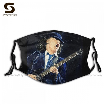 Fast Delivery Dust Protection Angus Young Face Mask Cute Polyester Bike Unisex Mouth Facial Mask With Filters