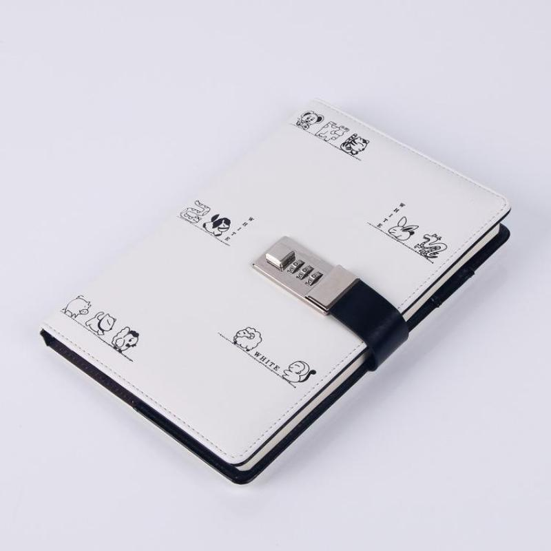 A5 Notebook Diary With Lock Password Book Planner Refill Daily Journal Travelers Agenda Office School Stationery Gift