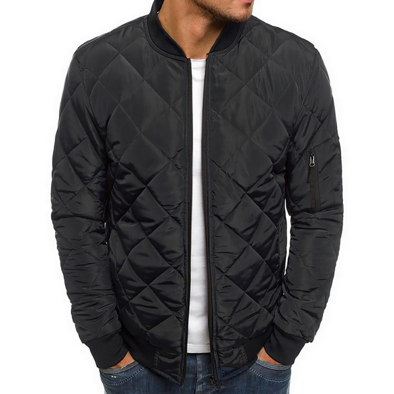 New Fashion Men's Jacket And Coats Lightweight Windproof Warm Packable Jacket Solid Warm Men Lightweight Jackets Plus Size 2XL