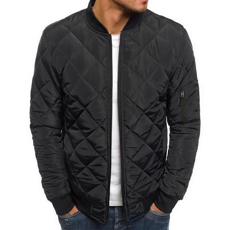New Fashion Men's Jacket And Coats Lightweight Windproof Warm Packable Jacket Solid Warm Men Lightweight Jackets Plus Size 2XL