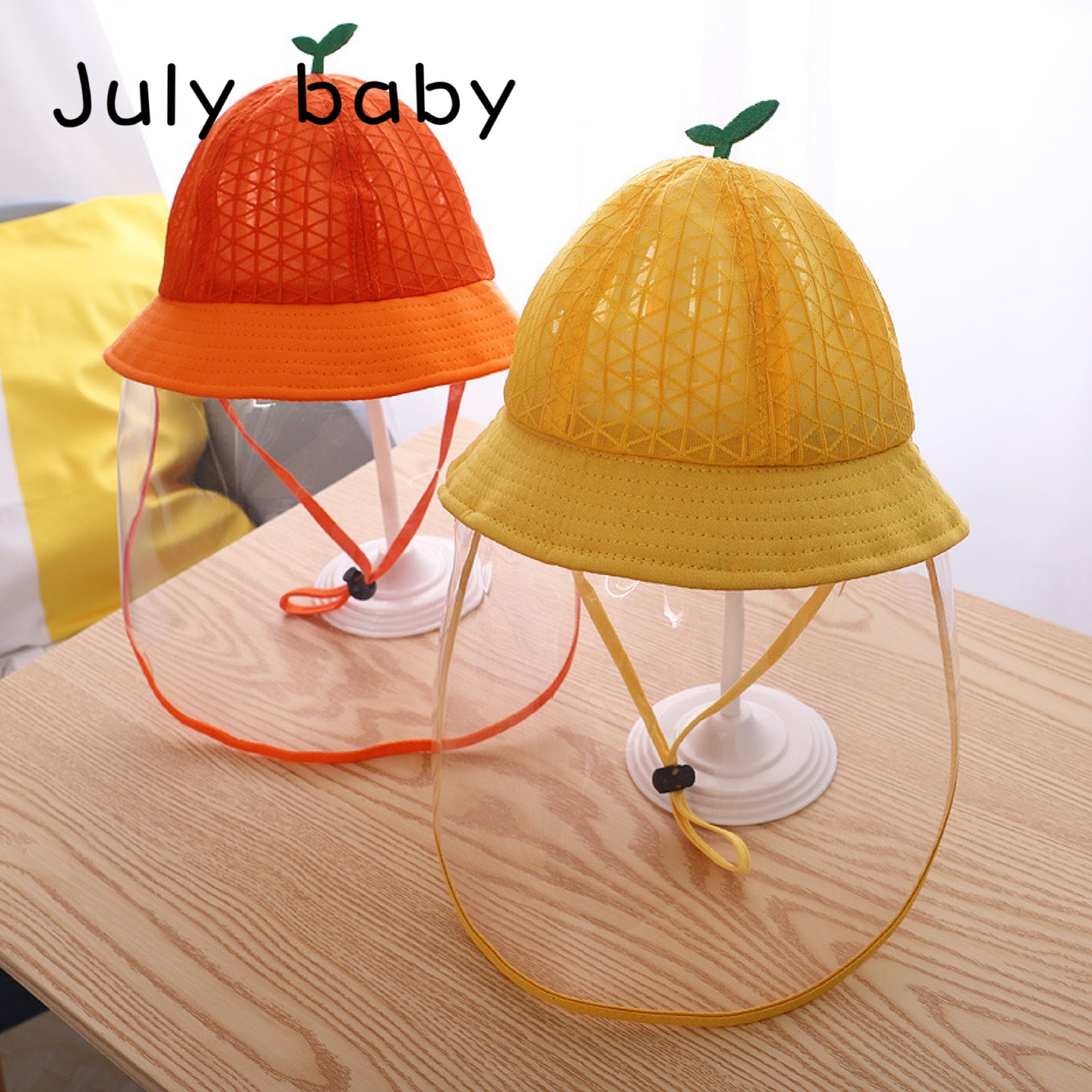July Baby Splash-proof Removable Children's Protective Cap Boys And Girls Transparent Protective Cover Cute Super Cute Hat
