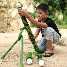 Som e luz jedi almofariz pode lançar foguete tiro simulação militar modelo jedi sobrevivência frango brinquedo crianças brinquedos