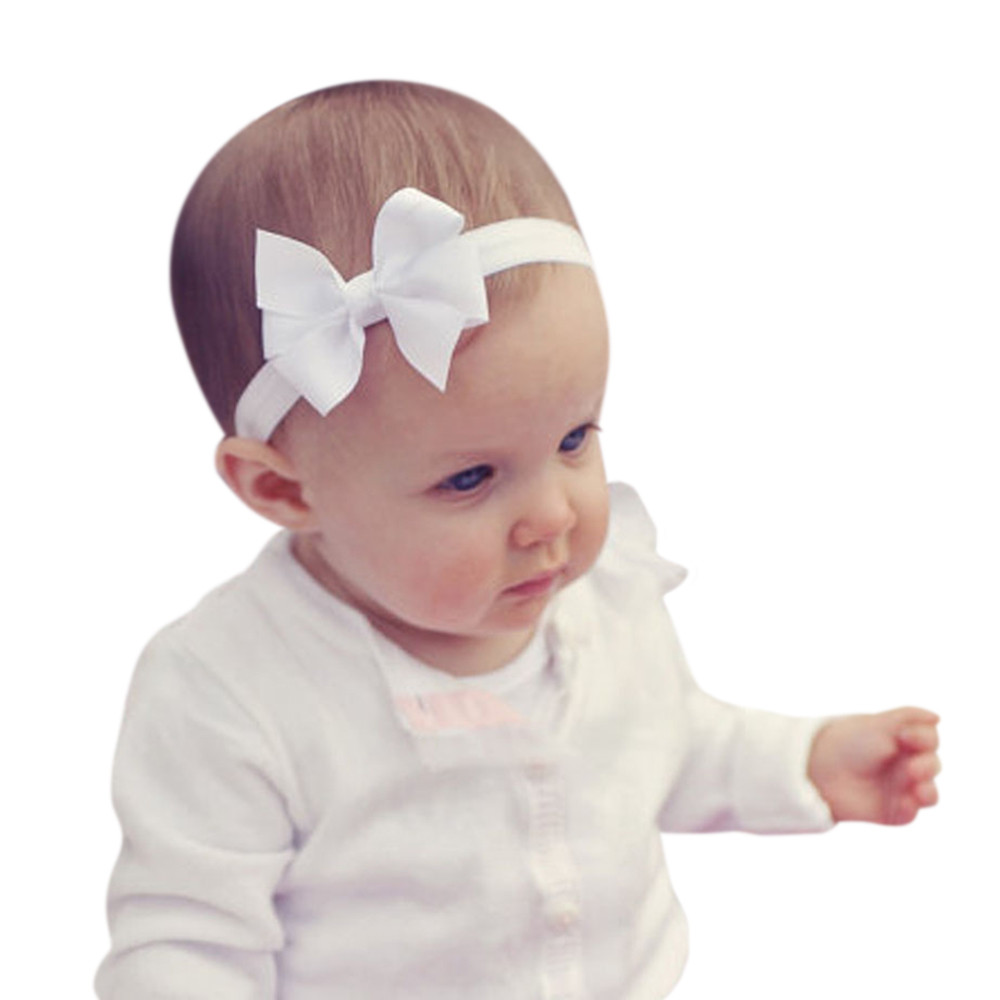 3Pcs Kids Elastic Floral Headband Hair Girls Baby Bowknot Hairband Set