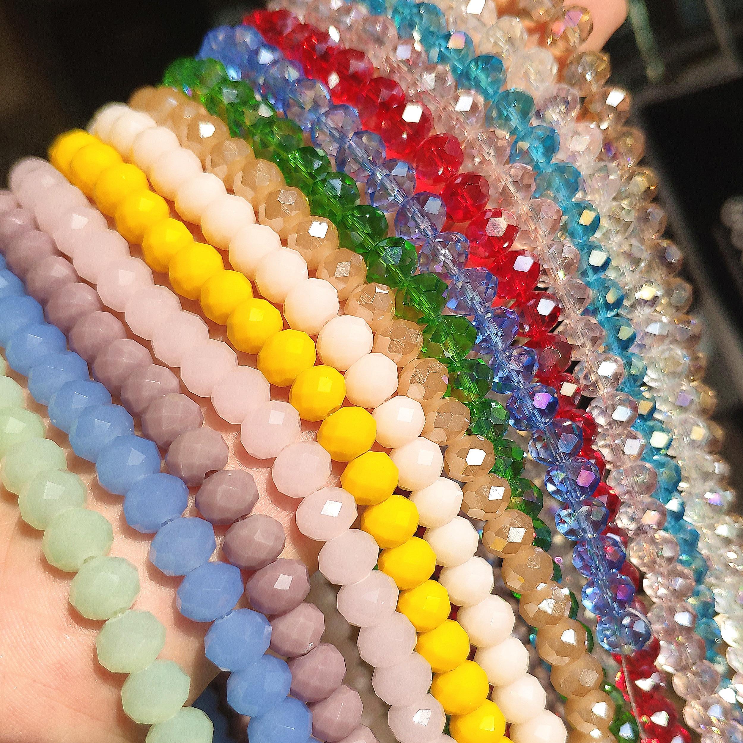 3/4/6/8 мм многоцветные стеклянные бусины граненые настоящими Австрийскими кристаллами камушки-бусинки Rondelle бусины для самостоятельного изг...
