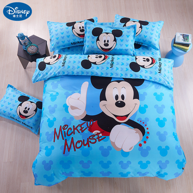 Bedding-Set Sheet Bedclothes-Cover Mouse Children Cartoon Minnie Home-Textile Cot title=
