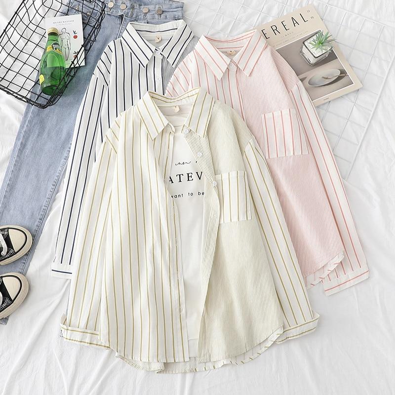 Купить полосатые женские блузки рубашки туника топы женская одежда