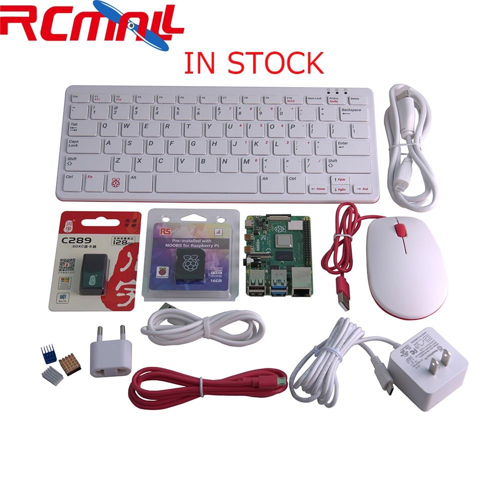 Raspberry Pi 4 Model B 4B Desktop Kit 4GB RAM Of LPDDR4 SDRAM 1.5GHz 64-bit Quad-core Keyboard Mouse SD Card