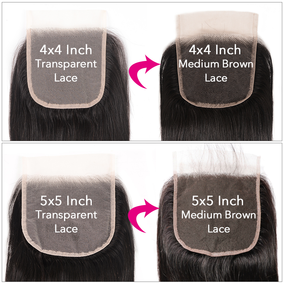 Hef071c9495754657bbf2a63d38c6fa88M UNice Hair Transparent Lace With Closure 8-30 Malaysian Straight Hair 3 Bundles with Closure Remy Human Hair Extension Bundles