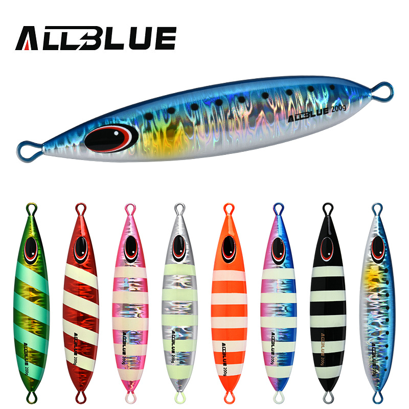 ALLBLUE CXW Metal Jig Fishing Lure 200g/300g/400g Off Shore Slow Pitch Jig Super Hard Lead Vertical Jigging Spoon Fishing Tackle image