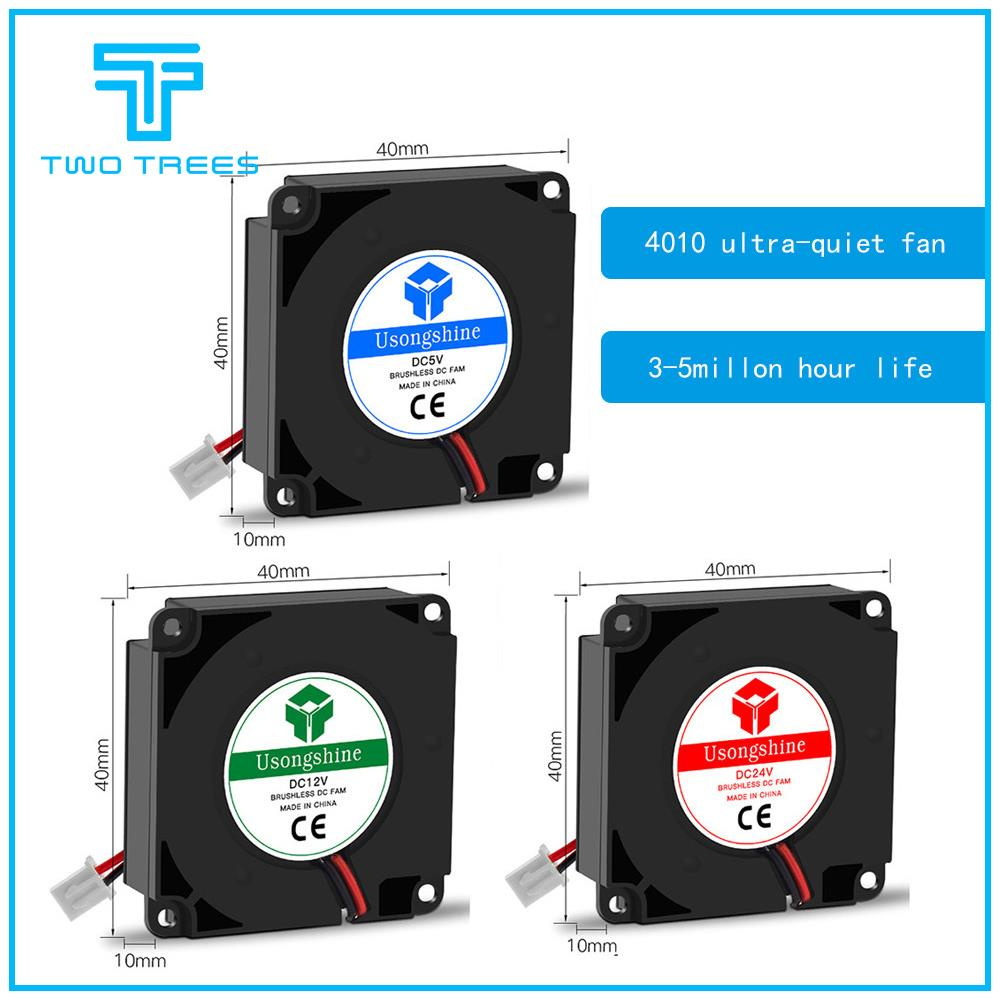 Cooling <font><b>fan</b></font> 5V 12V <font><b>24V</b></font> 40*10mm <font><b>4010</b></font> Hydraulic Bearing Blow Radial extruder Cooling <font><b>Fan</b></font> Turbo <font><b>Fan</b></font> with XH2.54-2P Wire for Ender 3 image